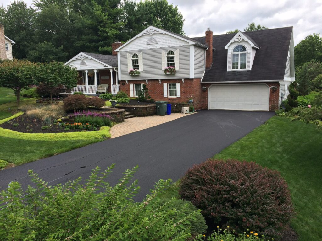 New Driveway at Residential Dallastown, PA Home at Emory J. Peters Excavating and Paving Contractor, Inc.