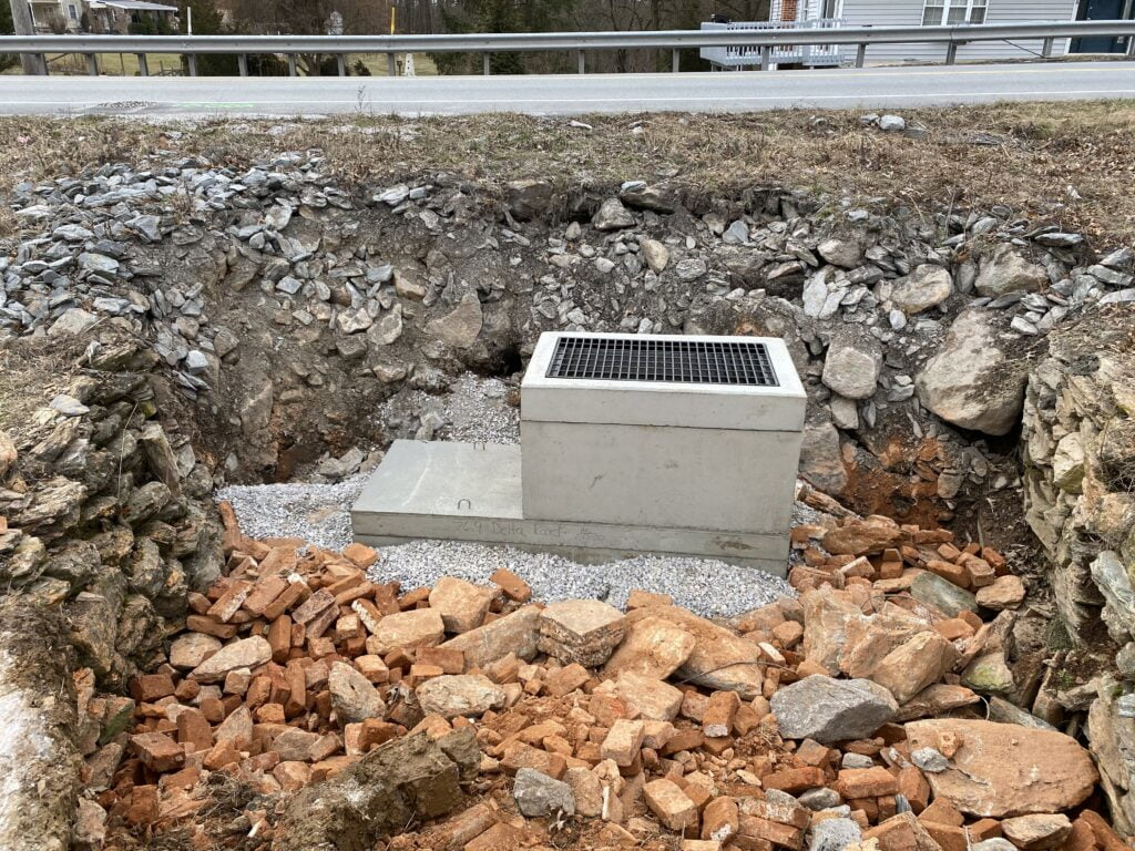 Storm Drain Inlet Installation at Emory J. Peters Excavating and Paving Contractor, Inc.